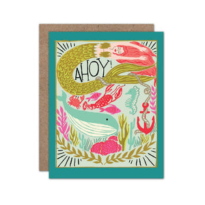 Olive & Company - Ahoy Mermaid Card