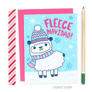 Turtle's Soup - Fleece Navidad Holiday Greeting Card