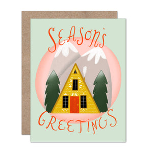 Olive & Company - Season's Greetings A-Frame Holiday Card