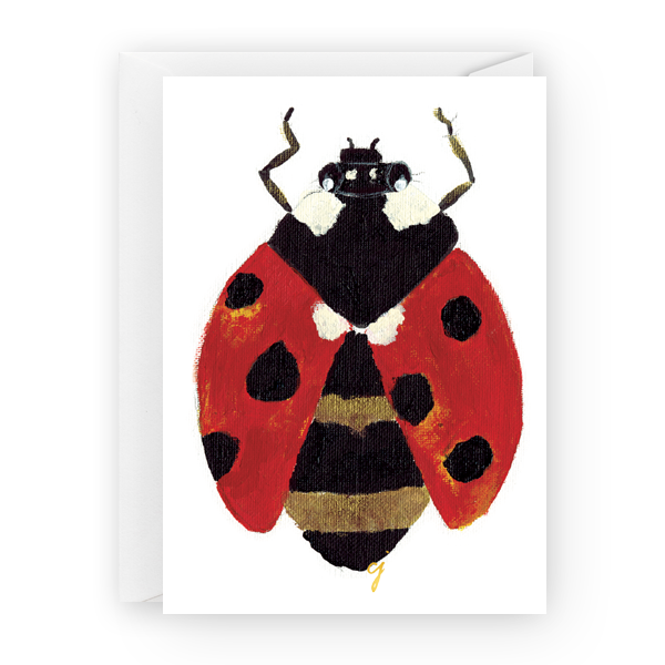claire jordan designs - 5 x 7 lady bug greeting card
