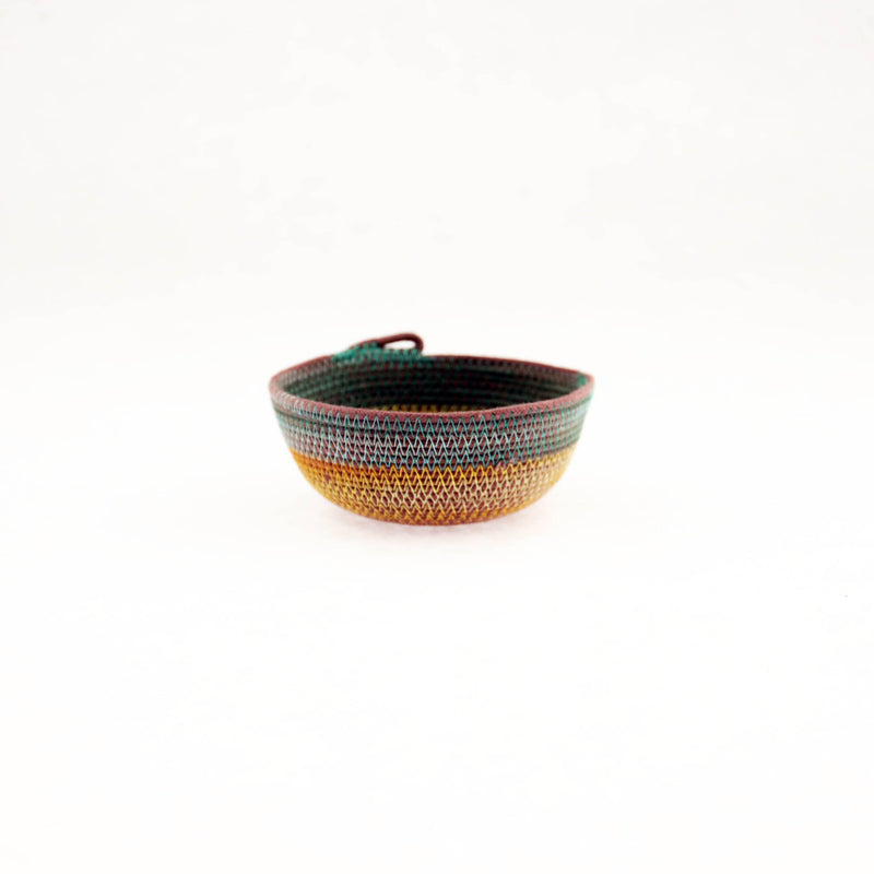 Small Teal with Marigold Bowl