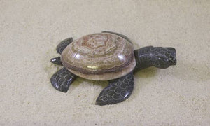 "SS handcrafted Art - 6.5"" Marble Turtle"
