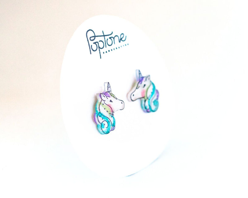 Poptone Co. - Unicorn Stud Earrings
