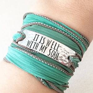 Clair Ashley - It Is Well With My Soul Wrap Bracelet