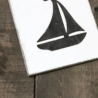 Anchored Soul Designs - sailboat sign, nautical decor, beach decor, coastal decor