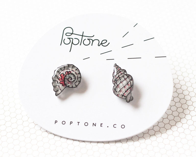 Poptone Co. - Seashell Mismatched Earrings