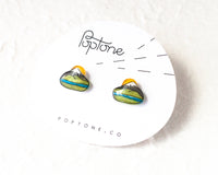 Poptone Co. - Oregon Mt Hood Mountain Earrings