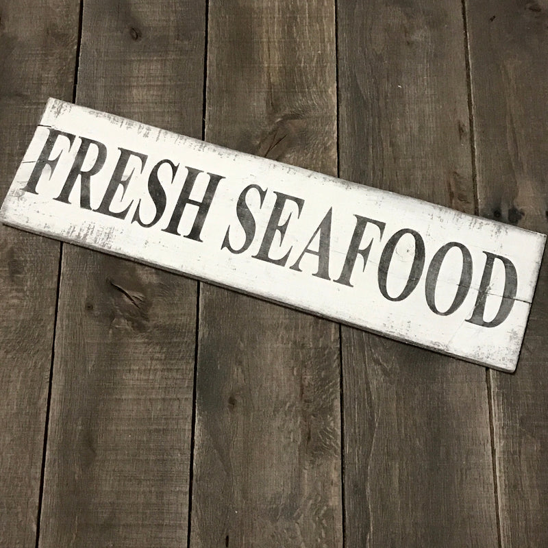 Anchored Soul Designs - Fresh Seafood sign