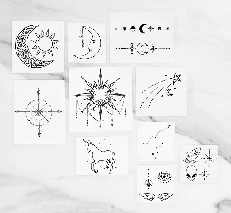 INKED by Dani - Cosmic Pack - Temporary Tattoos