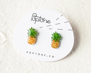 Poptone Co. - Pineapple Fruit Stud Earrings