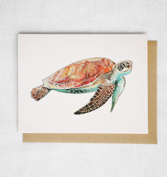 Irene Akio - Sea Turtle Card