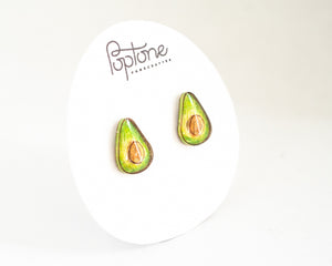 Poptone Co. - Avocado Stud Earrings