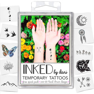 INKED by Dani - Free Spirit Pack - Temporary Tattoos