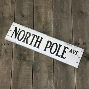 Anchored Soul Designs - North Pole sign, Christmas decor, Holiday Decorations