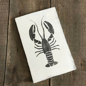 Anchored Soul Designs - Lobster sign, coastal decor, beach decor, ocean life decor