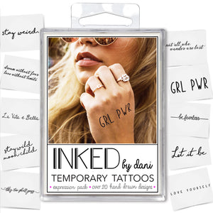 INKED by Dani - Expression Pack - Temporary Tattoos