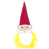 "claire jordan designs - 5"" x 7"" Gnome Greeting Card"
