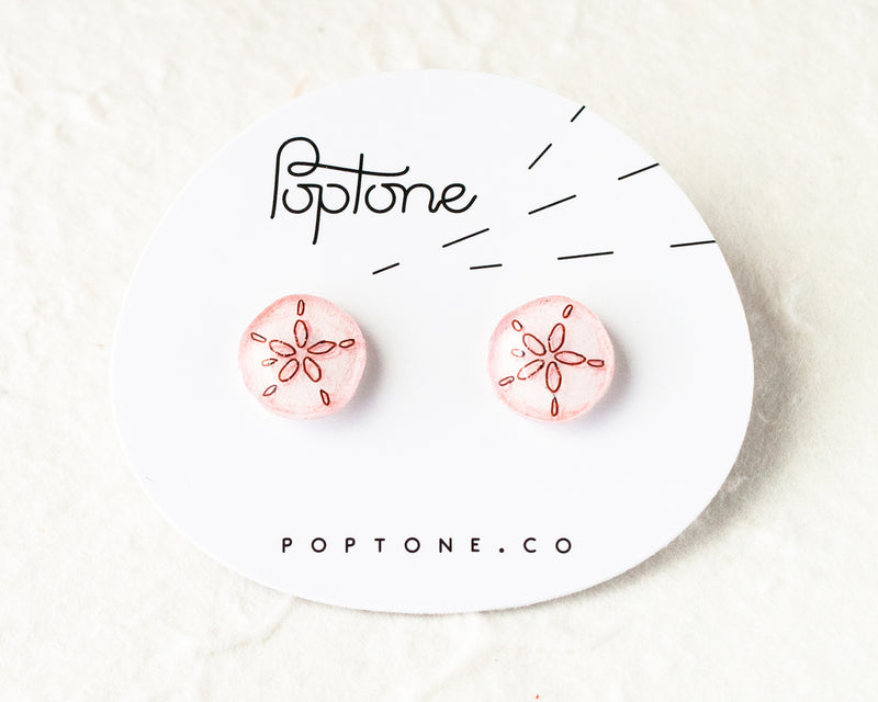 Poptone Co. - Sand Dollar Earrings
