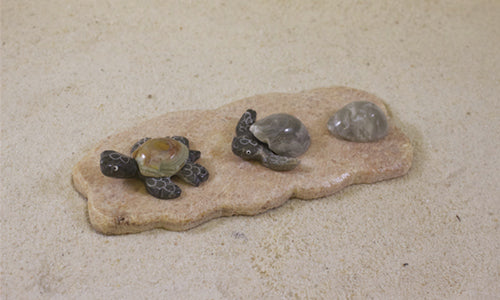 SS handcrafted Art - 5'' Marble Nesting Turtle
