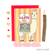 Turtle's Soup - I Love You Llama Alpaca Card