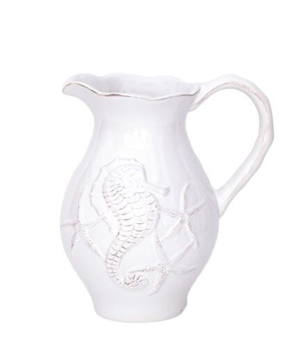 Blue Sky Clayworks - White Seahorse Pitcher
