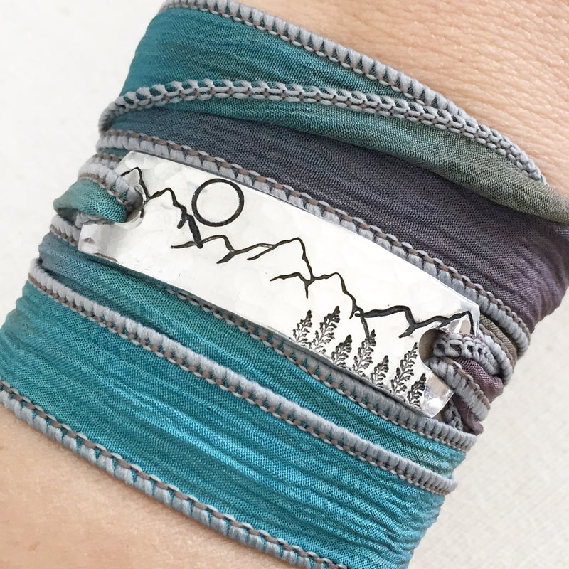Clair Ashley - Mountainscape Forest Wrap Bracelet