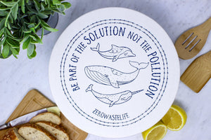 Your Green Kitchen - Extra Large Waxed Whale Bowl Cover