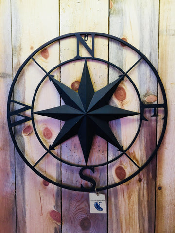 Compass Rose Metal (Dark Brown)