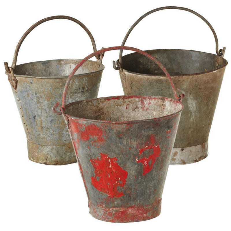Repurposed Vintage Bucket.  Come see Blue Whale Trading Company's wide selection of home furnishings as well.