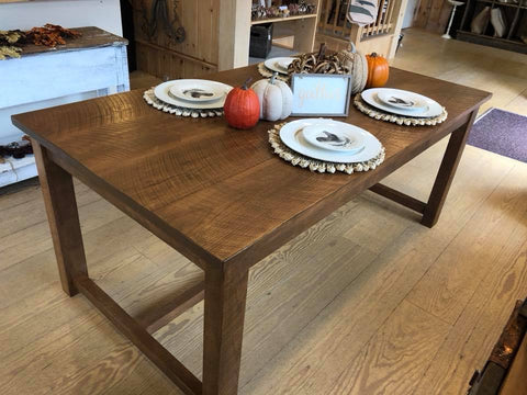 Custom French Inspired Farm Table, Solid Oak [In-Store-Only]