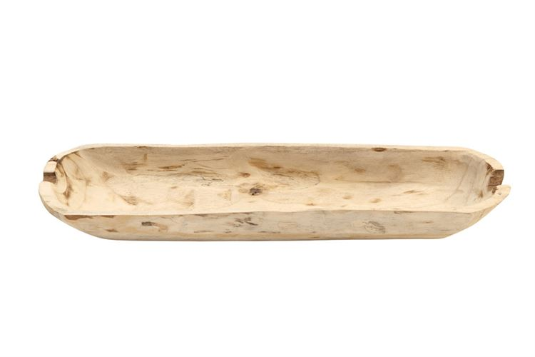 Rectangle Decorative Paulownia Wood Bowl