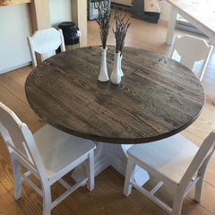 Driftwood Gray / Rustic Distressed Round Table [In-Store-Only]