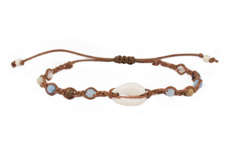 Shell of the Earth Lotus and Luna Bracelet