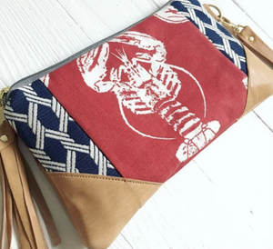 Red Nautical Lobster Crossbody bag