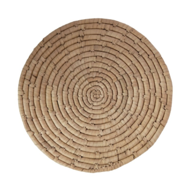 Hand-Woven Grass Placemat Round