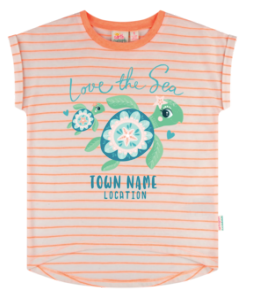 Girls T - Love The Sea Turtle