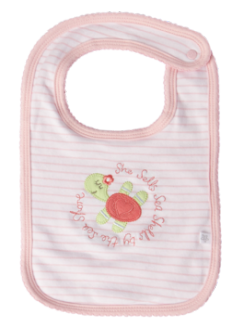 Baby Girl Bib - Sea Shells Turtle