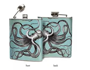 Octopus Hip Flask 6oz - Oso + Bean