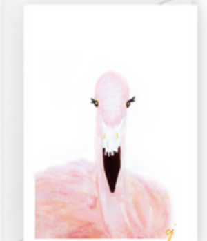 Claire Jordan Flamingo Greeting Card