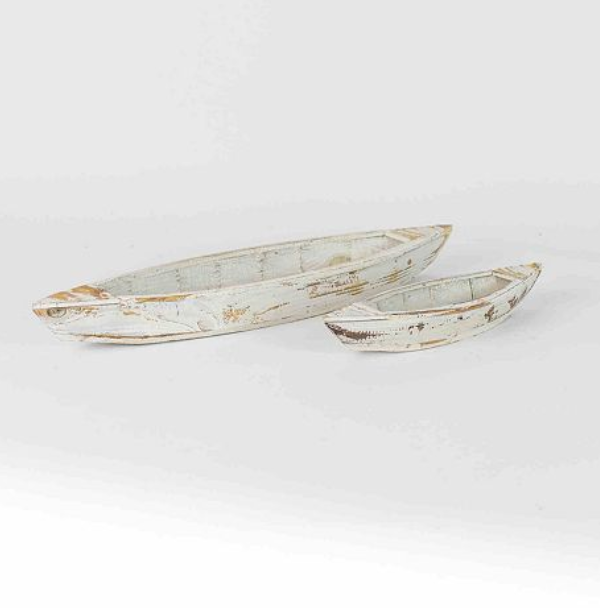 Set of 2 Wooden Boats