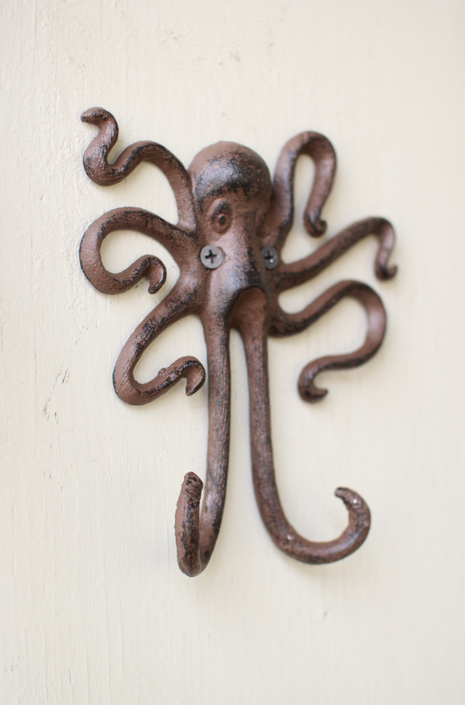 Cast Iron Octopus Wall Hook