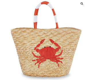 Sea Straw Bag Crab Tote