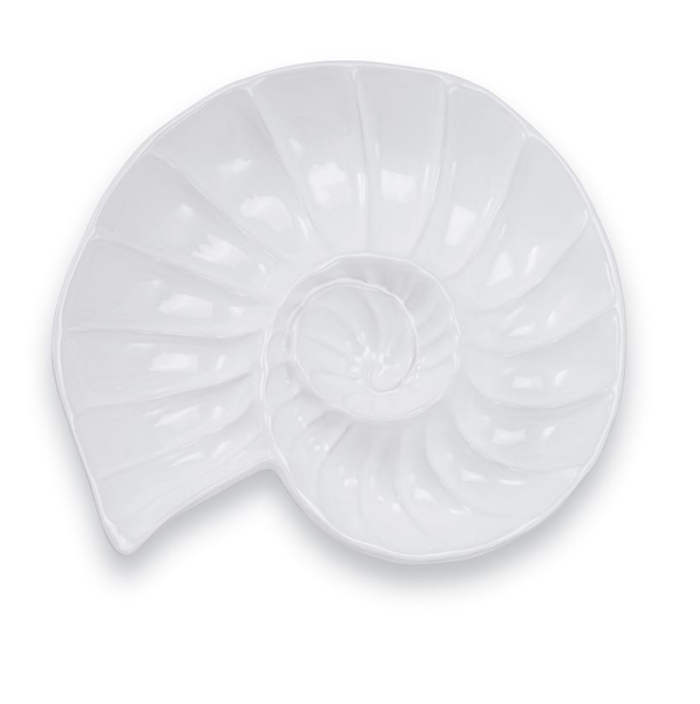 Nautilus Seashell Chip and Dip Dish Tray - Mudpie