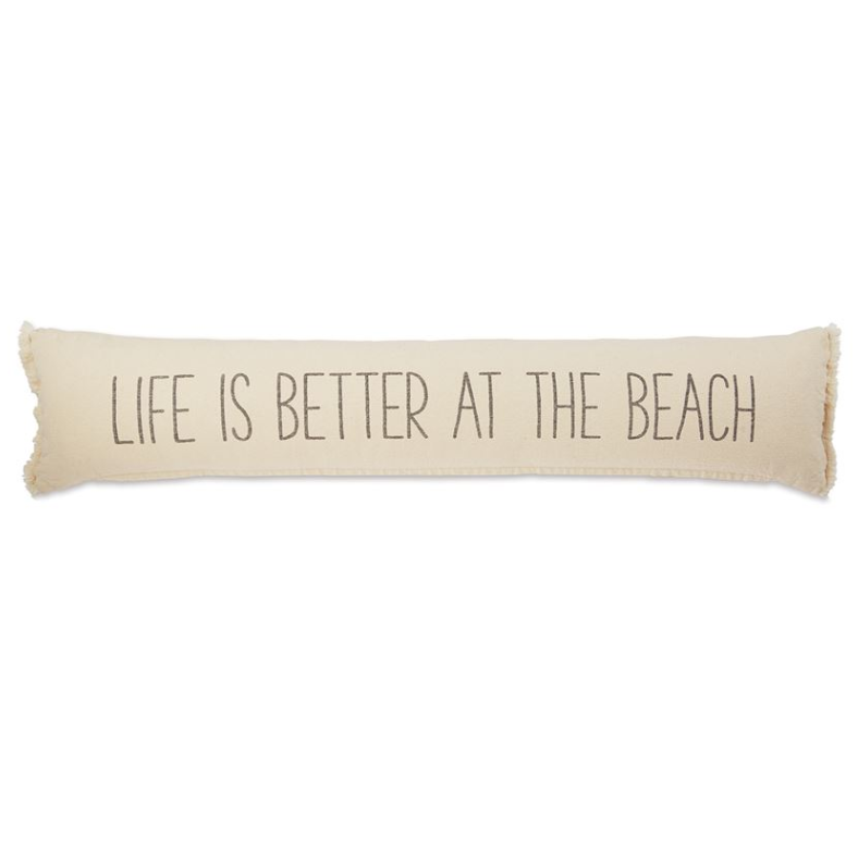 Life is Better Skinny Cotton Beach Pillow