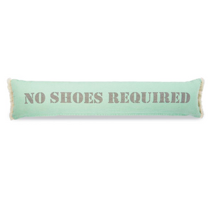 No Shoes Skinny Cotton Beach Pillow