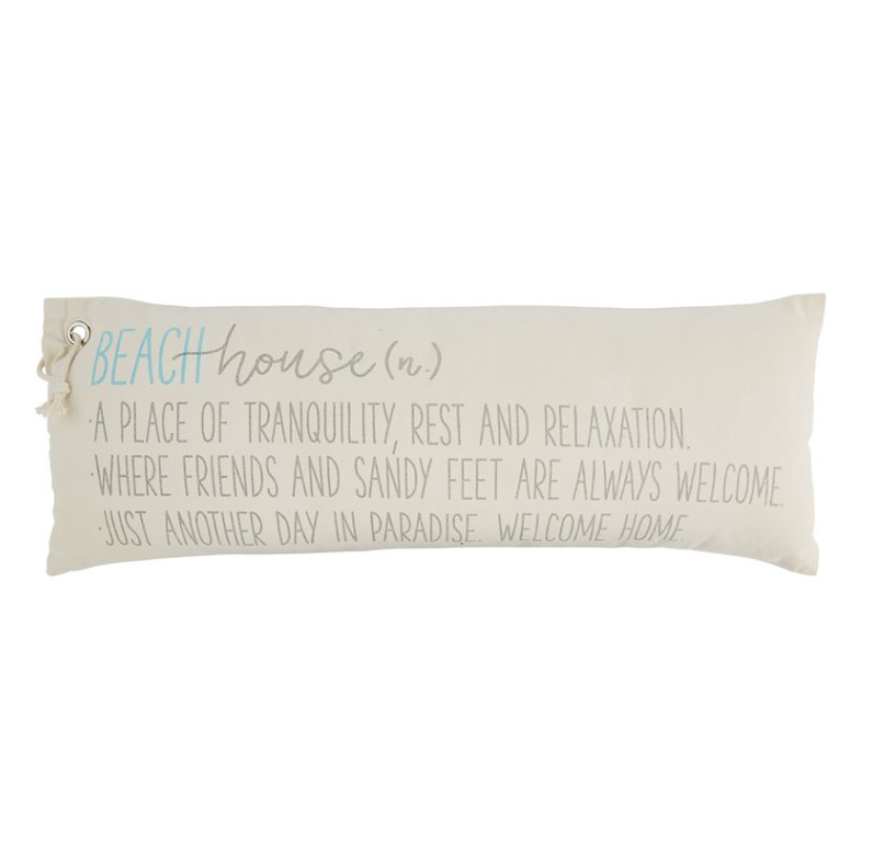 Beach House Definition Pillow - Mudpie