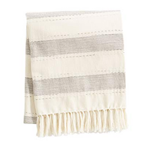 Tan Chambray Stripe Blanket