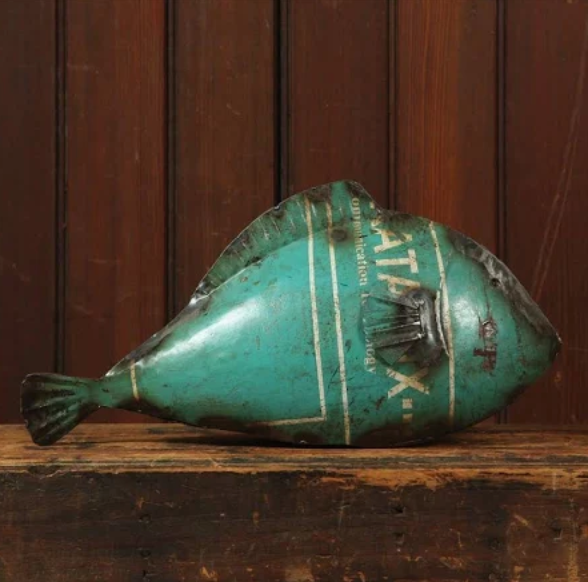 Large Reclaimed Metal Fish