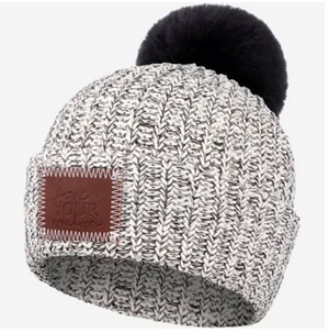 Black Speckled Pom Beanie (Black Pom) - Love Your Melon
