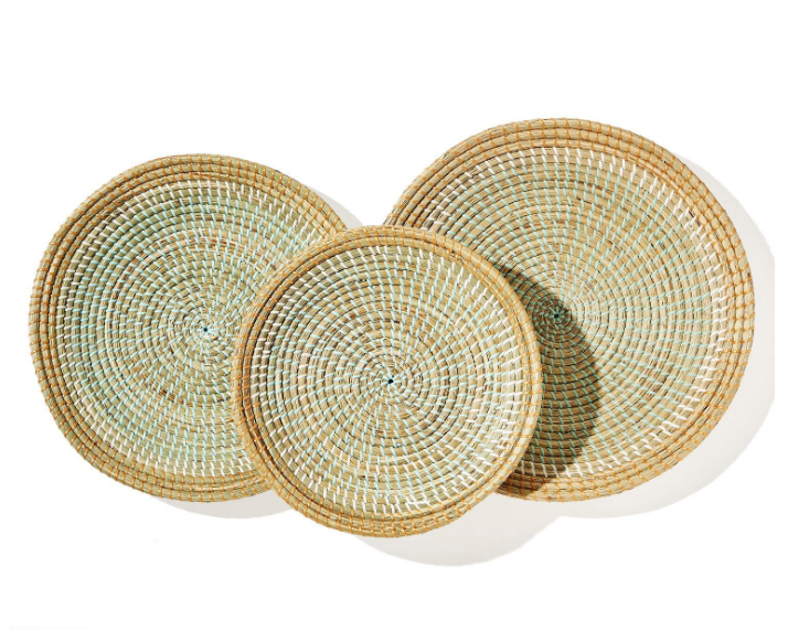 Phuket Round Seagrass Decorative Trays - Seagrass/Plastic